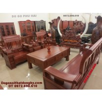 Bộ bàn ghế gỗ đồng kỵ gỗ hương kiểu mới B63