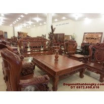 Bộ bàn ghế gỗ hương đẹp mẫu phượng công PC69