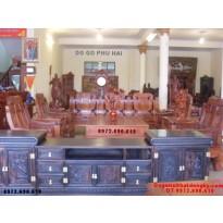 Bàn ghế gỗ hương đẹp kiểu mẫu như ý NY71