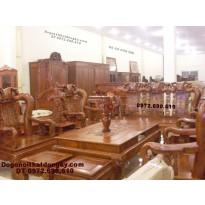 Bàn ghế gỗ đồng kỵ gỗ hương Quốc đào QD72