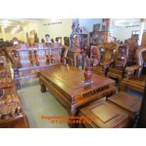 Bàn ghế gỗ đinh hương mẫu quốc voi QV74
