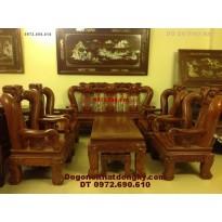 Bộ bàn ghế gỗ đinh hương quốc đào vai 14 QD78
