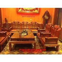 Bàn ghế phòng khách đẹp, đồ gỗ đồng kỵ mẫu như ý NY79