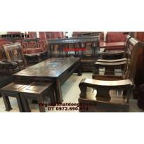 Bàn ghế đồng kỵ, Bộ bàn ghế đẹp kiểu mới gỗ mun B.85