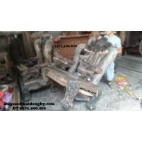 Bộ bàn ghế kiểu cổ gỗ mun quí hiếm sang trọng B90