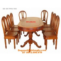 Bàn ghế phòng ăn Bàn bầu duc 7 món BA 4-9