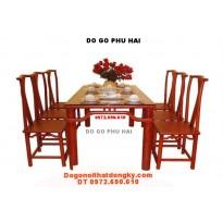 Bộ bàn ăn Kiểu Chữ Nhật Ghế Minh BA11