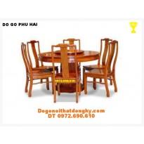 Bộ bàn ăn đẹp kiểu Bàn Tròn Xoay BT25