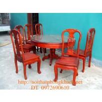 Bộ bàn ghế phòng ăn, Bàn Tròn 7 món BT8-7