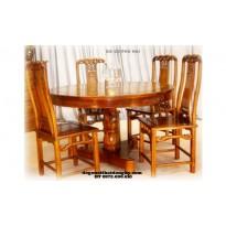 Bộ bàn ăn gỗ hương đẹp kiểu Bàn Tròn Xoay BT39