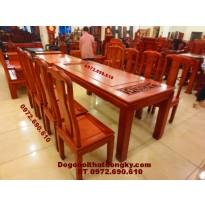 Bộ bàn ghế ăn đẹp bàn chữ nhật BA44