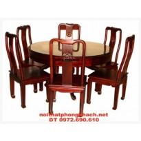 Đồ Gỗ Đồng Kỵ Bộ bàn ghế ăn bàn Tròn BT30