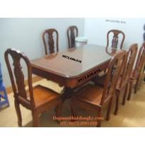 Bàn ghế phòng ăn bàn chữ nhật dogodongky.net.vn BA68