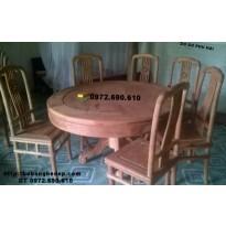 Bộ bàn ghế ăn gỗ hương bàn tròn giá rẻ nhất BA71