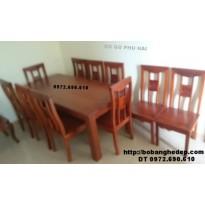 Bộ bàn ăn bàn chữ nhật 10 ghế hàng đồng kỵ BA74
