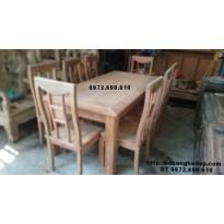 Bộ bàn ghế phòng ăn đẹp giá rẻ bàn chữ nhật BA75