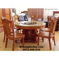 Bộ bàn ăn bàn tròn xoay cho phòng ăn đẹp BA78