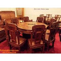 Bộ bàn ghế ăn đẹp bàn tròn bobanghedep.com BA79