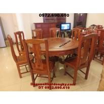 Bộ bàn ghế phòng ăn bàn Tròn gỗ đinh hương BA46