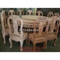 Nơi bán Bộ bàn ghế ăn đẹp bàn tròn xoay BA.90