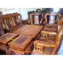 Bộ bàn ghế gỗ cẩm lai Kiểu Quốc voi V14 CL6