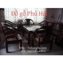 Bộ bàn ghế gỗ cẩm lai Kiẻu Minh Lùn Gỗ ML1