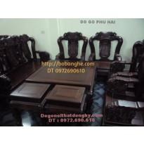 Bộ bàn ghế gỗ cẩm lai Quốc voi C12 CL4