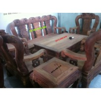 Bộ bàn ghế Minh Đào gỗ cẩm lai V12 CL8