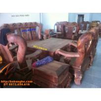 Bộ bàn ghế gỗ cẩm lai Quốc Đào V14 CL7