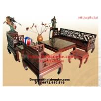Bộ bàn ghế phòng khách gỗ gụ Kiểu Triện Vạn TV1