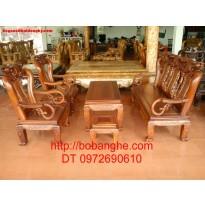 Bàn ghế gỗ gụ Minh Quốc G01