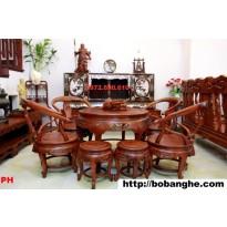 Bộ bàn ghế Minh quốc Bàn tròn gỗ Hương BT4