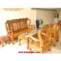 Bộ bàn ghế gỗ hương Quốc đào khảm ốc cột 10 MHK01