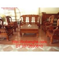 Bộ bàn ghế gỗ hương Minh Quốc Voi QV3