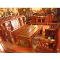Đồ gỗ :Bộ bàn ghế Gỗ Hương Kiểu Công phượng PC19