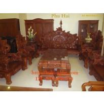 Bàn ghế Đồng Kỵ - Bộ Rồng Bảo Đỉnh RD6