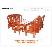 Bộ bàn ghế gỗ hương minh quoc V10 QH2