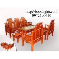 Bộ Bàn Ghế gỗ hương Kiểu Tần Thủy Hoàng TTH1