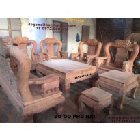 Bộ bàn ghế gỗ hương dogodongky.net.vn Quốc voi QVH10
