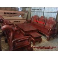 Bộ bàn ghế đồng kỵ,Gỗ hương kiểu khổng minh KM02