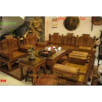 Bàn ghế gỗ hương ÂU Á Tay hộp AU5