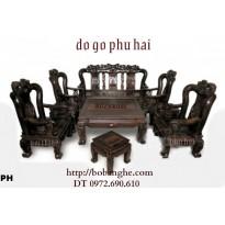 Bàn ghế gỗ mun Kiểu Minh Quốc Hồng C12 QHM5
