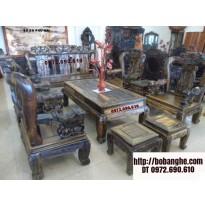 Bàn ghế phòng khách gỗ mun Kiểu Quốc Hồng V12 BM6