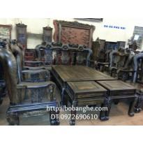 Đồ gỗ Đồng Kỵ Bàn ghế Minh Quốc Hồng Gỗ Mun vai 14 QH1