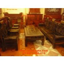 Bộ bàn ghế gỗ mun Kiểu Âu Á Tay Hôp AU8