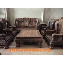 Bộ bàn ghế gỗ mun Minh Quốc voi QV7