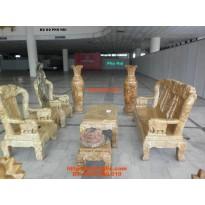 Bộ bàn ghế gỗ nu nghiến kiểu Quốc Voi NGQV2