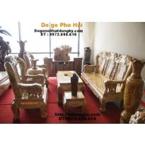 Bộ bàn ghế gỗ nu nghiến kiểu Minh Quốc Voi NGQV1
