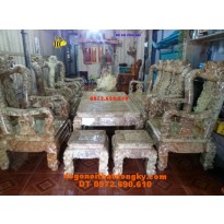 Bàn ghế quí hiếm gỗ Nu nghiến Kiểu Minh quốc NG13