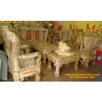 Bàn ghế đẹp gỗ Nu nghiến Kiểu Minh quốc Triện TN3
